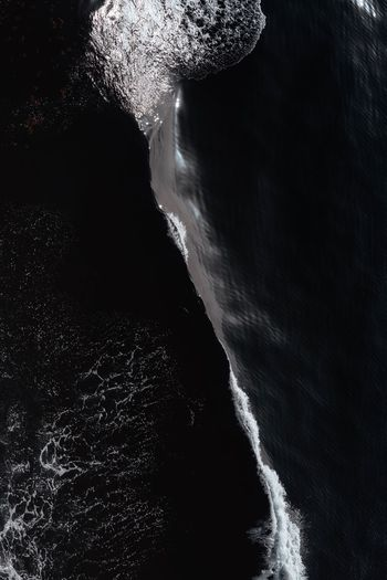 Deep Sea Black Moodygrams Landscape Moody Wallpaper Ocean Water Black Water Motion Sea Nature Beauty In Nature No People Scenics - Nature High Angle View Beach Wave Waterfront Breaking Outdoors Power Power In Nature Tranquility