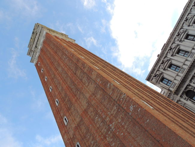 Architecture Building Exterior Built Structure Cloud - Sky Day Low Angle View No People Outdoors Piazza San Marco Piazza San Marco Venezia Piazza San Marco Venice,Italy Piazza San Marco, Venezia Sky Sky And Clouds Sky Collection Sky_collection
