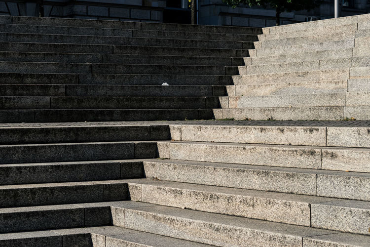 Staircase Architecture Steps And Staircases Built Structure Railing No People The Way Forward Day Pattern Direction Outdoors Building Exterior Low Angle View Sunlight Wall - Building Feature Moving Up Nature Building Empty Concrete Shadow Shape Shadows & Lights Shadows Shades Of Grey Berlin Berliner Ansichten Berlin Photography Sony Sonyphotography Sonyalpha The Minimalist - 2019 EyeEm Awards