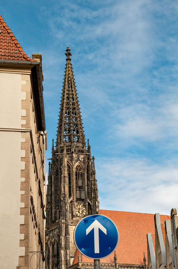 Built Structure Architecture Building Exterior Building Sky Religion Low Angle View Place Of Worship Tower Travel Destinations Nature Blue Belief City Spirituality Day No People Tall - High Outdoors Clock Spire  Münster Germany Prinzipalmarkt Lambertikirche