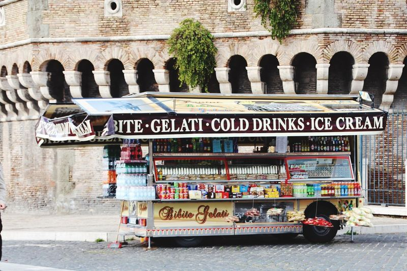 Rome Italy🇮🇹 Rom Streetfood Gelato Time Gelati Architecture Building Exterior Text Day Outdoors City No People Moving Around Rome Modern Workplace Culture