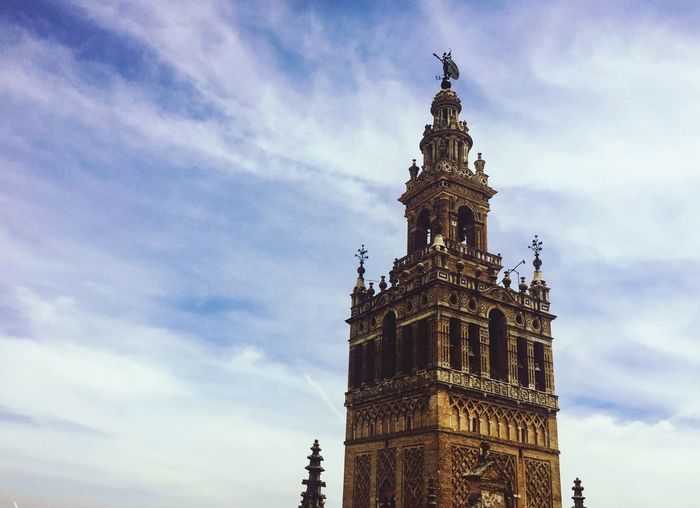 Architecture Sky Built Structure Clock Tower Travel Destinations No People Sevilla Church