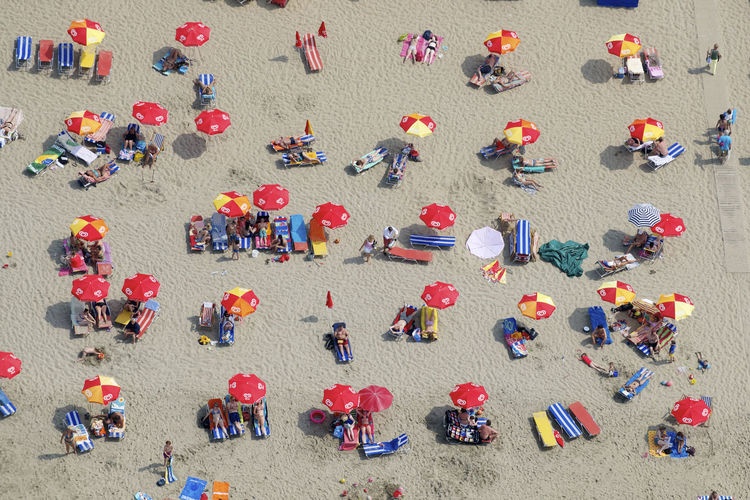 A sunny hot summer day along the Dutch North Sea coast Sunny The Netherlands Adult Adults Only Crowd Day Directly Above Dutch High Angle View Holland Large Group Of People Outdoors People Sitting Standing Sunny Day