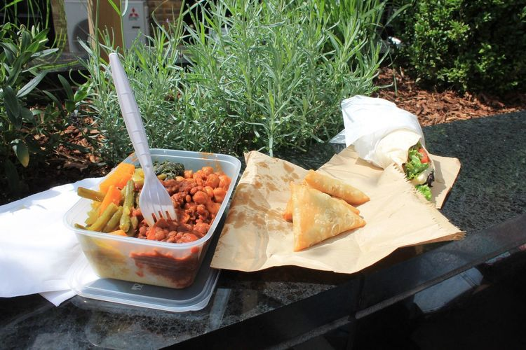 Greenwich Market Food And Drink Food Freshness Ready-to-eat Plant Serving Size Cooked Temptation Appetizer Ethiopian Food London Wrap Cous Cous