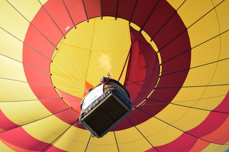 Low angle view of hot air balloon