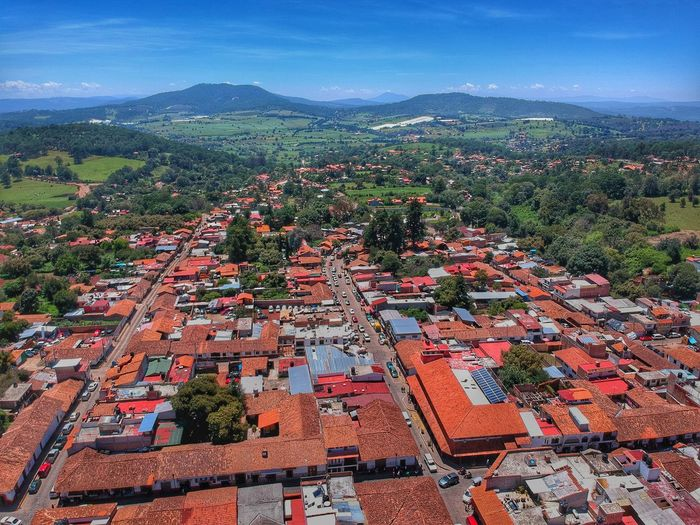 Turism Mazamitla Jalisco Architecture Building Exterior High Angle View Built Structure Landscape Nature Tree Aerial View Day Outdoors