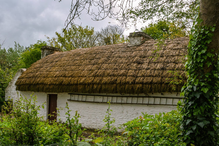 Architecture Building Exterior Built Structure Cloud - Sky Cottage Country Countrylife Green Color Ireland Nature Outdoors Scenics Thatch Thatched Cottage Thatched Roof Tranquil Scene