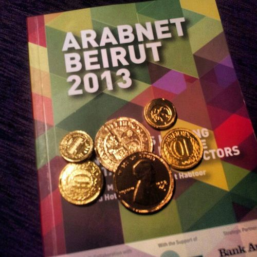 Arabnetbeirut2013 Arabnetme Coins Chocolate wallyapp golden
