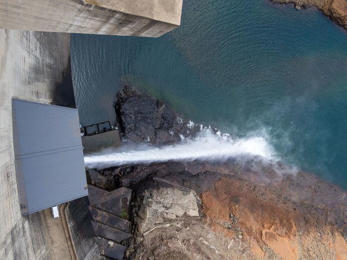 Concrete Mountains Africa African Katse Dam Katsedam Lesotho Power Plant Hydro Dam Hydro Power Hydroelectric Power High Angle View