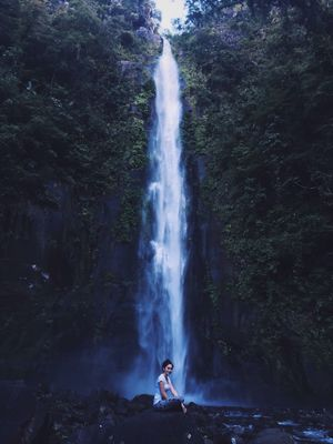 ExploreEverything Waterfall Water My Year My View Nature Mountain Wanderlust Beauty In Nature Explore Beauty In Nature Real People Forest Standing One Person Scenics Motion Outdoors Day Tree Power In Nature Freshness People EyeEm Best Shots EyeEm Best Shots - Nature EyeEm Nature Lover