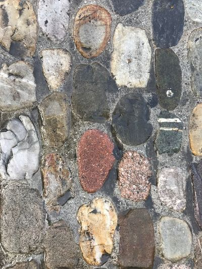 Colorful No People Day Solid Directly Above Textured  Full Frame Rough High Angle View Backgrounds Close-up Nature Pattern Stone - Object Footpath Outdoors Rock Stone Shape Street Stone Material