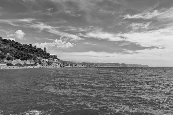 Sightseeing in Ceriale Liguria,Italy Mare Nuvole Sky And Clouds Black And White Cielo Cloud - Sky Horizon Over Water Landscape Paesaggio Scenery Sea