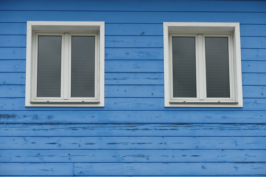 Architecture Backgrounds Blue Building Exterior Built Structure Close-up Day Full Frame No People Outdoors Shutter Window