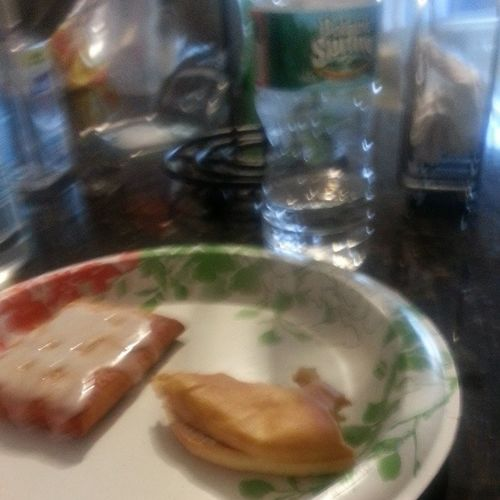 Breakfast Bagel ToasterStrudel Water PolandSpring LOL