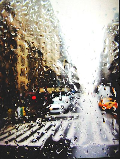 I hate days like this when it rains, and it rains, and it rains and it rains. New York NYC Rain Window Traveling Traveler