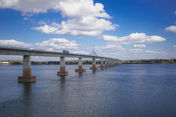 Second thai lao friendship bridge across the mekong river