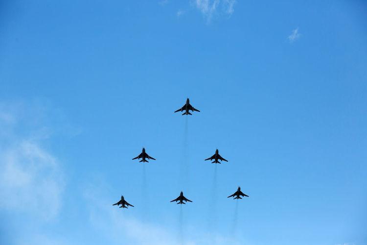 Airshow Show Air Airplane Blue Blue Sky Military Military Airplane Sky