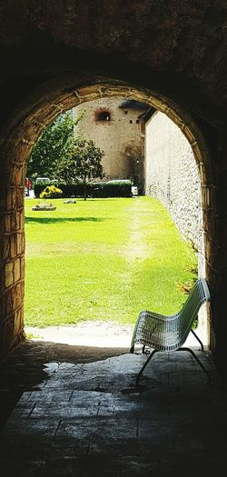 Arch Green Color Architecture Built Structure No People Grass Day Outdoors
