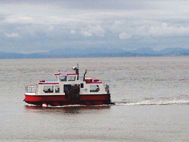 Ferry Scenics Mode Of Transport Nautical Vessel Power Boats River Ripples In The Water