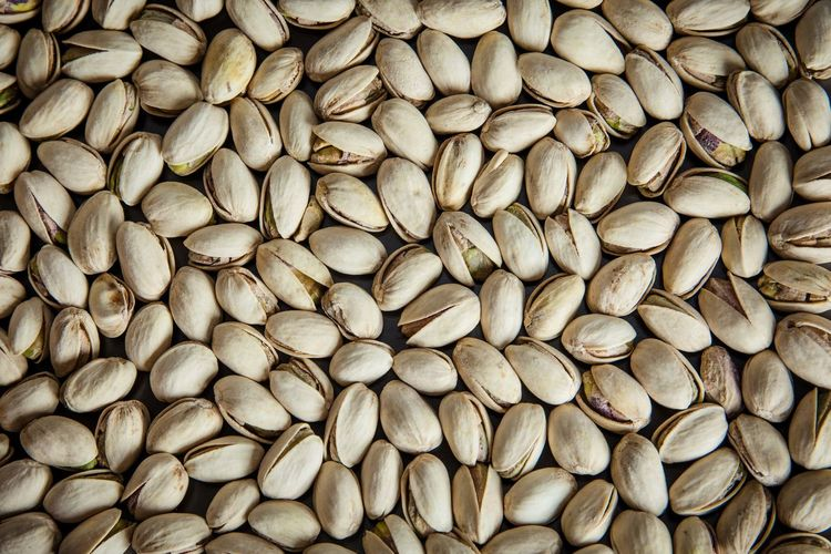 Full frame shot of pistachios for sale
