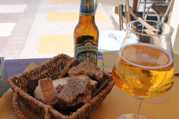 Food And Drink Drinking Glass Alcohol Table Drink No People Indoors  Day Close-up Freshness Beer Bread Beach Summer Italy Pisa