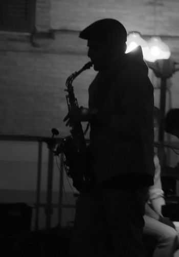 #auditions #band #iberiaparish #saxophone #blackandwhite #FridayNight #music #MusicsLife #onstage #streetphotography Alone Men Shadow