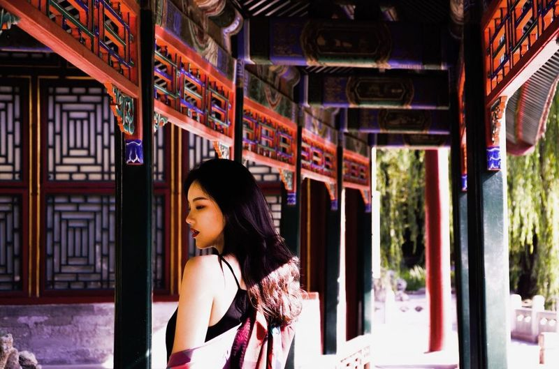 A morning with my friendWomen Architecture Beautiful Woman Clothing Beauty Chinese Culture China In My Eyes