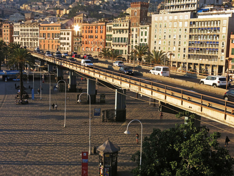 Architecture Building Exterior Built Structure Cars Causeway City City Life City Street Day Elevated View Genoa Genoa, Italy, Europe, Liguria Genova #architecture Genova ♥ Genovacity Genovamorethanthis Genovatales Harbour No People Outdoors Portrait Residential Building Residential Structure Sky Town