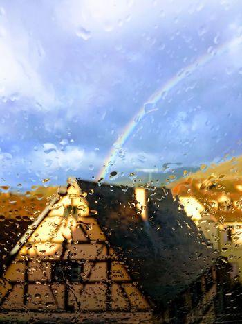 Sky Transportation Cloud - Sky Wet Water Glass - Material Nature Rain