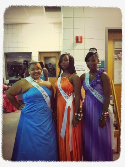 Coronation with the girls.