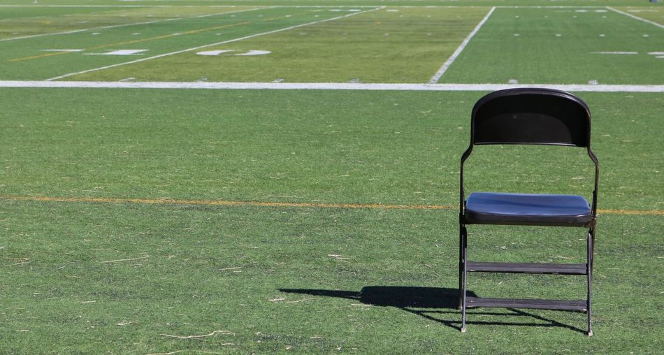No People Soccer Field Playing Field Empty Grass Sport Green Color Outdoors Day Chair