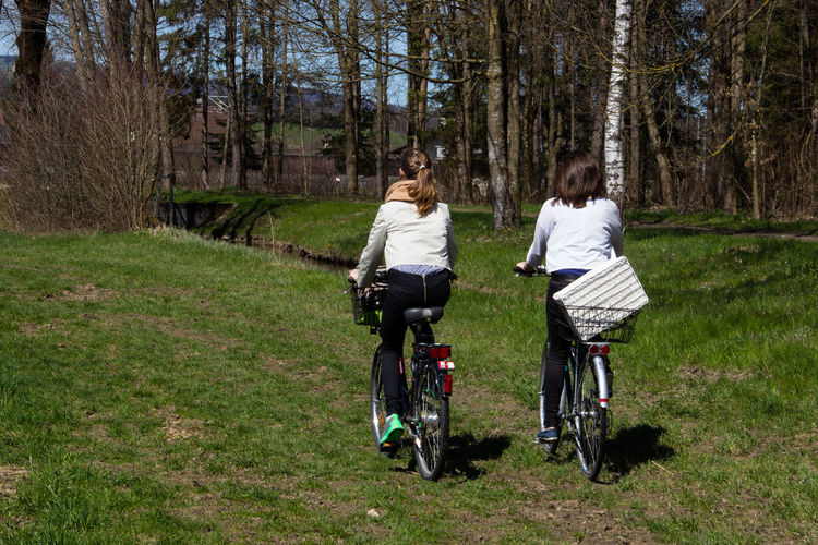 Ausfahrt Bicycle Frühling Green Color Leisure Activity Mode Of Transport Outdoors Spring Fahrrad Fahrradtour Feel The Journey