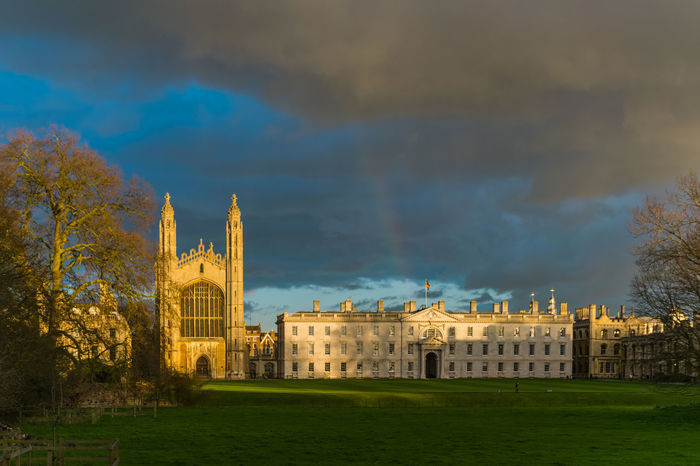 Architecture Beautiful Building Exterior Built Structure Capital Cities  City Cityscape Cloud Cloudy Crowded Dramatic Exterior Façade Famous Place Historic History International Landmark King's College Moody Outdoors Rain Rainbow Sky Storm University
