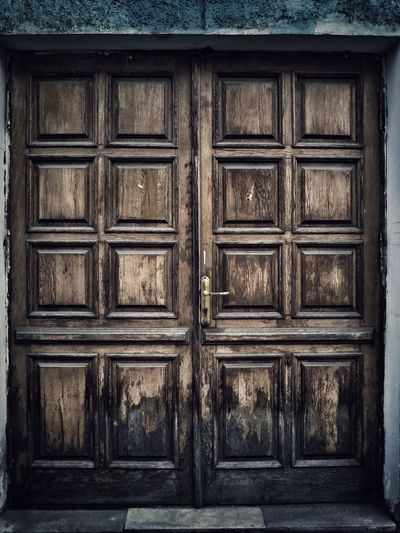 Architecture Built Structure Building Exterior Wood - Material Wooden House Historic Door Protection Closed Door Architecture Built Structure Building Exterior Protection Safety Wood - Material Security House Wooden Day Outdoors Weathered In Front Of Full Frame