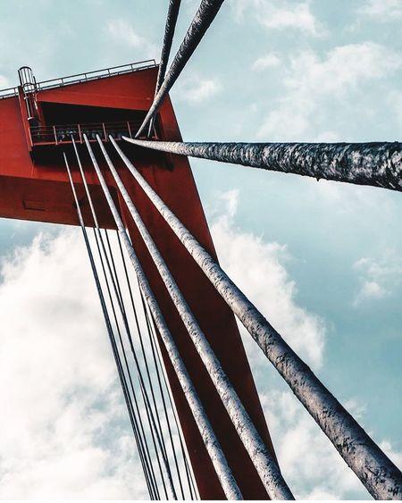 Rotterdam bridge Sky Cloud - Sky Low Angle View Architecture Built Structure Nature Connection