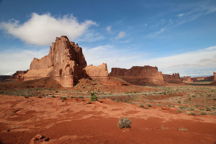 Beautiful nature Arches Rock Rock Formation Sky Rock - Object Non-urban Scene Geology Scenics - Nature Landscape Tranquil Scene Cloud - Sky Solid Physical Geography Beauty In Nature Tranquility Environment Remote Travel Destinations Nature No People Idyllic Arid Climate Climate Outdoors Formation Eroded