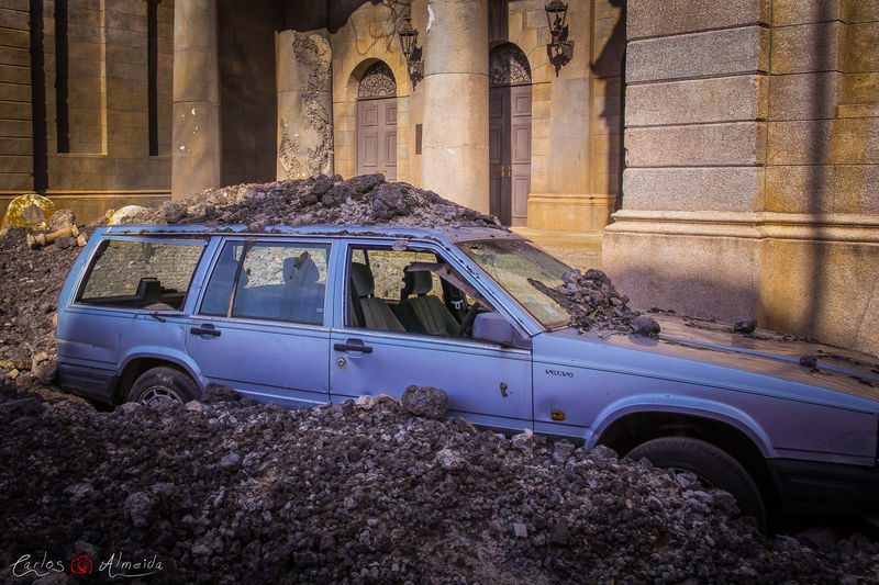"Title: ""Volvo Wrecked"" Place: Walt Disney Studios, France Date: 01-10-2012 - 11h10 Máquina: Canon EOS 60D Objetiva: Canon EF-S 18-135mm f/3.5-5.6 IS Software: Adobe Photoshop Lightroom (color correction) Photo rights reserved © Carlos 'Ammok' Almeida Abandoned Ammok Car Destruction Earthquake London Londres Obsolete Reign Of Fire  Terramoto Volvo Walt Disney Studio War Wreck"