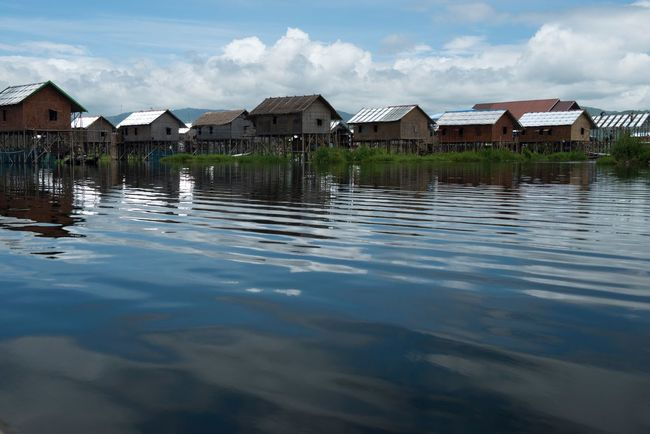 Inle lac Shan State Myanmar Water House Reflection Lake Tranquility Nature Scenics Beauty In Nature Countryside