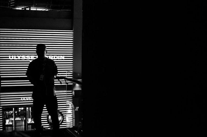 Casual Clothing City Life Dark Full Length Illuminated Leisure Activity Lifestyles Man Silhouette Singapore Standing