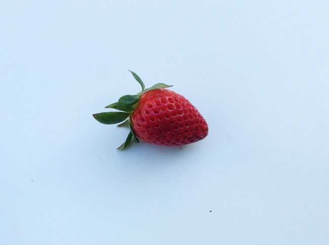 Isolated White Background Natural Nature Strawberry Red Strawberries