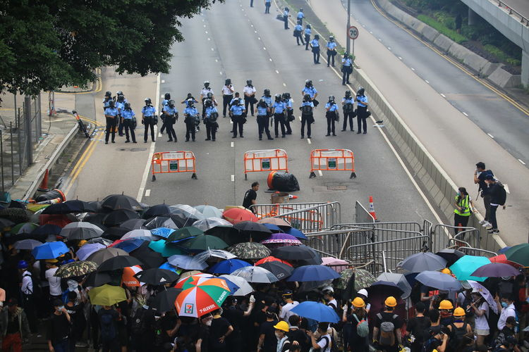 june 12 2019 hong kong protest People Group Of People Crowd Large Group Of People High Angle View Protest Again 612 June Demonstration Riot Police Arrest Street Streetphotography Political Politics And Government Tension China Hong Kong Hong Kong City Protestor Umbrella The Photojournalist - 2019 EyeEm Awards