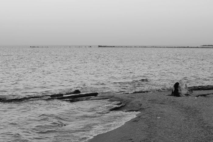 2 Girls Nature Serenity Blackandwhite Girls Sea Sea And Rocks Sea And Sky Perspectives On Nature