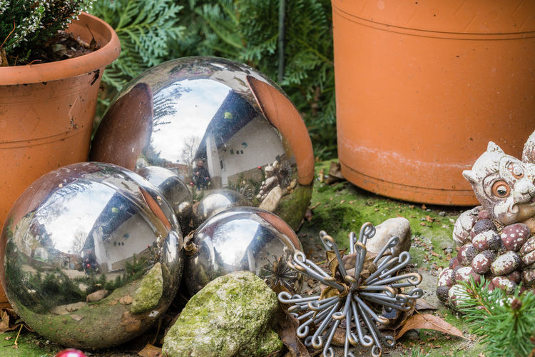 Tom Zander Ball Balls Close-up Day Garden Garten Kugel Kugeln No People Outdoors Reflection Reflektion Reflektionen Spiegelung