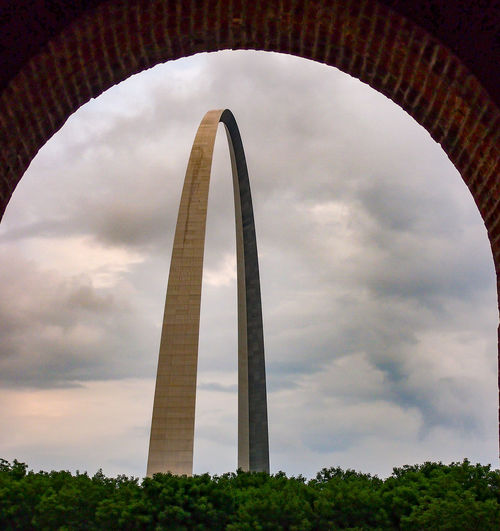 The Arch Arch Architecture Built Structure Cloud - Sky Low Angle View No People Connection Building Exterior Travel Destinations Arch Bridge Outdoors Sky Bridge - Man Made Structure Day St Louis Arch