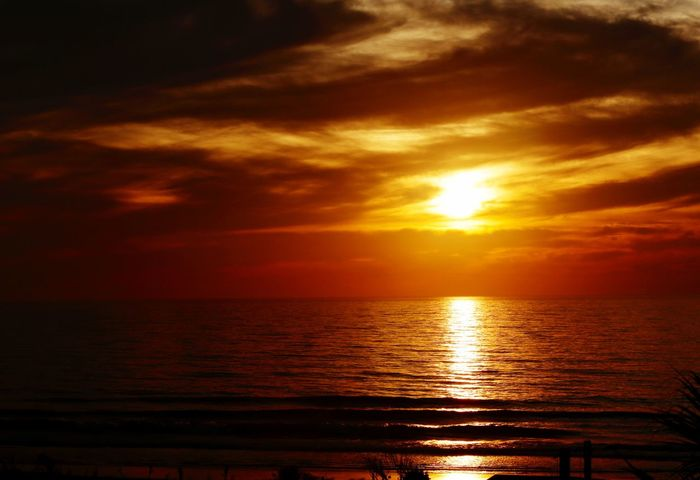 Sunrise over the Atlantic Sunrise JGLowe Sunset Scenics Sea Beauty In Nature Tranquil Scene Reflection Tranquility Orange Color Water Nature Horizon Over Water Sun Idyllic Sky No People Sunlight Outdoors Cloud - Sky Vacations