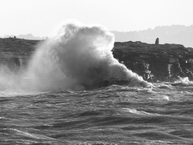 Tempête Carmen 31/12/2017 Bretagne Wave Beauty In Nature Black And White Clear Sky Day Humpback Whale Morbihan Motion Nature No People Outdoors Power In Nature Sea Sky Tempête Water Waterfront Wave