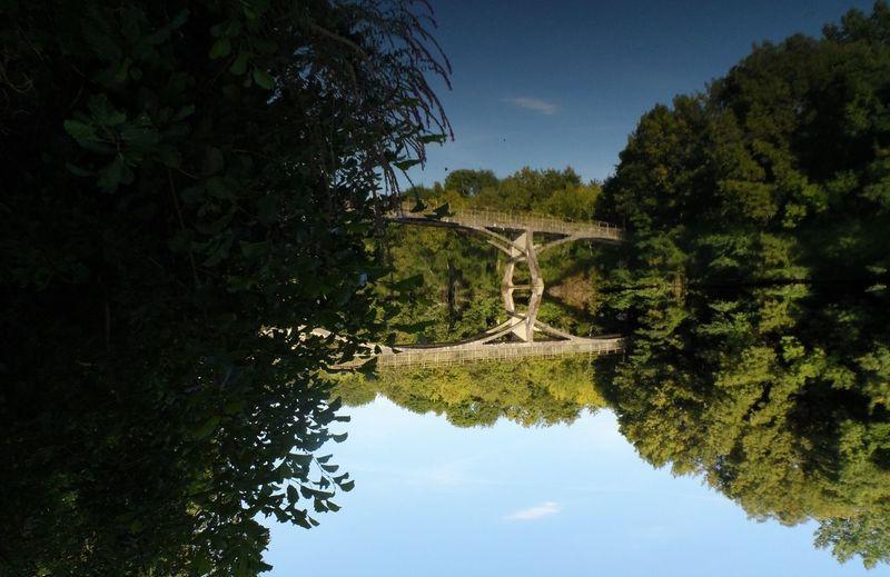 Glitch Paysage Au Bord De L'eau Charente Pont