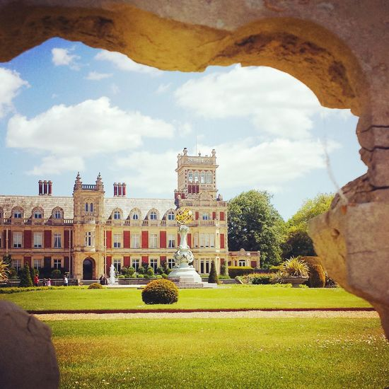 Outside Summer Somerleyton Hall Architecture Grand Beautiful Day Sun Clouds And Sky History Through The Lens  Through A Hole