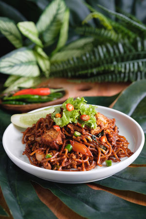 Malaysian Food Bowl Close-up Crockery Food Food And Drink Freshness Herb High Angle View Indoors  Meal Mee Goreng Mamak No People Pasta Plate Ready-to-eat Serving Size Still Life Table Vegetable Wellbeing
