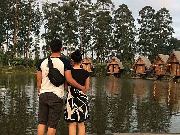 Love Without Boundaries Couple Dusun Bambu Bandung, West Java Peaceful View Trees Lake View